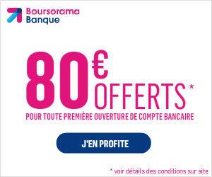 80€ offerts Boursorama